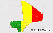 Flag Simple Map of Mali