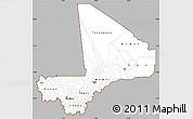 Gray Simple Map of Mali, single color outside