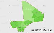 Political Shades Simple Map of Mali, single color outside