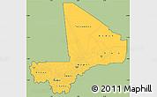 Savanna Style Simple Map of Mali, cropped outside