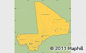 Savanna Style Simple Map of Mali, single color outside