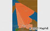 Political Shades 3D Map of Tombouctou, darken