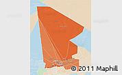 Political Shades 3D Map of Tombouctou, lighten