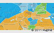 Political Shades Map of Niafunke