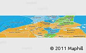 Political Shades Panoramic Map of Niafunke