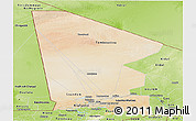 Satellite Panoramic Map of Tombouctou, physical outside