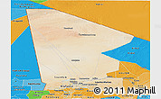 Satellite Panoramic Map of Tombouctou, political shades outside