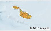 Political Shades 3D Map of Malta, lighten
