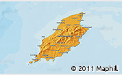 Political Shades 3D Map of Isle of Man
