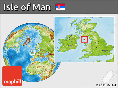 Physical Location Map of Isle of Man