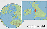 Savanna Style Location Map of Isle of Man