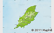 Physical Map of Isle of Man