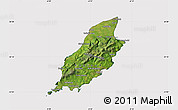 Satellite Map of Isle of Man, cropped outside