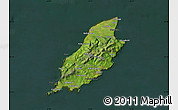 Satellite Map of Isle of Man, darken