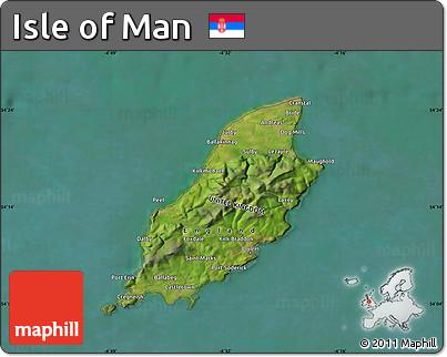 Free Satellite Map of Isle of Man