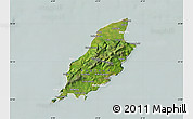 Satellite Map of Isle of Man, lighten