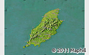 Satellite Map of Isle of Man, physical outside, satellite sea