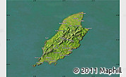 Satellite Map of Isle of Man, semi-desaturated, land only