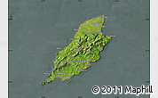 Satellite Map of Isle of Man, semi-desaturated