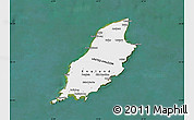 Satellite Map of Isle of Man, single color outside