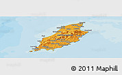 Political Shades Panoramic Map of Isle of Man