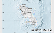 Gray Map of Martinique