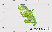 Physical Map of Martinique, cropped outside