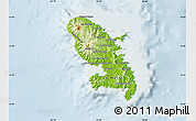 Physical Map of Martinique, lighten