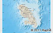 Shaded Relief Map of Martinique