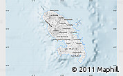 Silver Style Map of Martinique