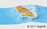 Political Shades Panoramic Map of Martinique