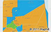 Political 3D Map of Adrar
