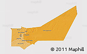 Political Shades 3D Map of Adrar, cropped outside