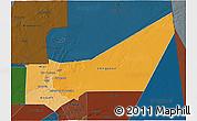 Political Shades 3D Map of Adrar, darken