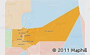 Political Shades 3D Map of Adrar, lighten