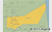 Savanna Style 3D Map of Adrar