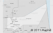 Silver Style 3D Map of Adrar