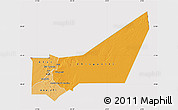 Political Shades Map of Adrar, cropped outside