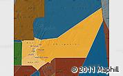 Political Shades Map of Adrar, darken