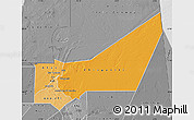 Political Shades Map of Adrar, desaturated