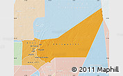 Political Shades Map of Adrar, lighten