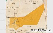 Political Shades Map of Adrar, satellite outside
