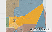 Political Shades Map of Adrar, semi-desaturated