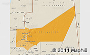 Political Shades Map of Adrar, shaded relief outside