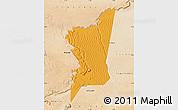 Political Map of Boumdeid, satellite outside