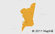 Political Map of Boumdeid, single color outside
