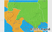 Political 3D Map of Kankossa