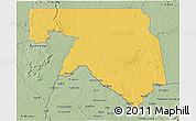 Savanna Style 3D Map of Kankossa