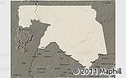 Shaded Relief 3D Map of Kankossa, darken