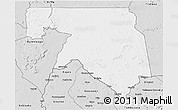 Silver Style 3D Map of Kankossa